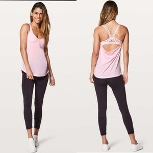 Lululemon athletica knot your typical tank pink 6